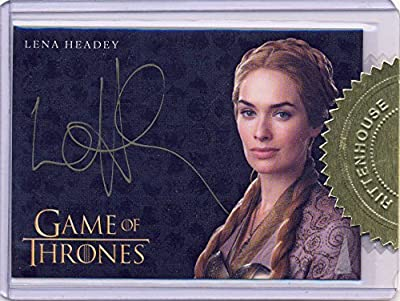 2014 Game of Thrones Season 3 Gold Ink Autograph Card Lena Headey as Cersei Lannister