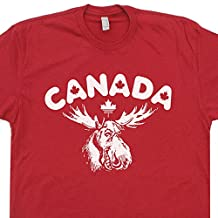 Canada Moose T Shirt Maple Leafs Bullwinkle Rocky and Wally Flag World Shirtmandude