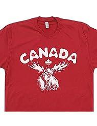 Canada Moose T Shirt Maple Leafs Bullwinkle Rocky and Wally Flag World Shirtmandude
