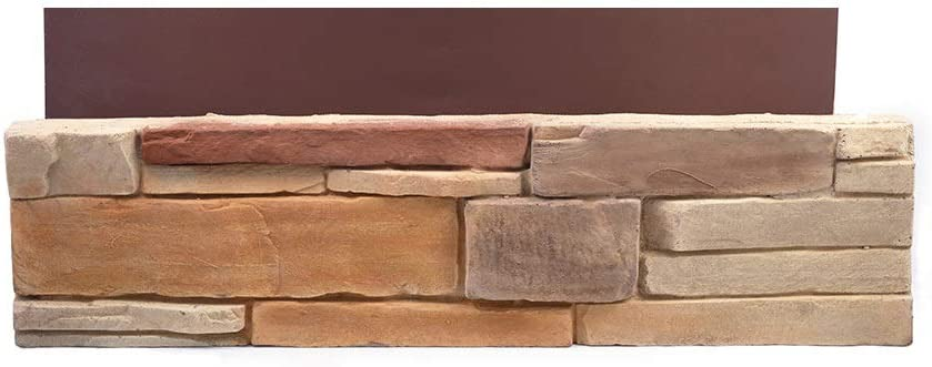 Natural Concrete Products Co DTFLATSP Adorn Mortarless Stone Veneer Siding | Ledgestone Series | Desert Tan | 8x8 Sample, 8 x8