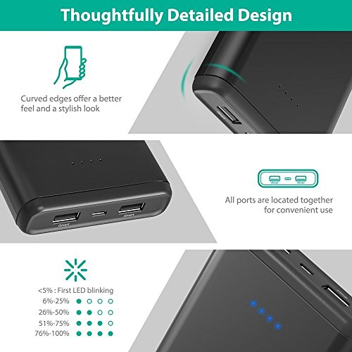Portable Chargers RAVPower 20000mAh USB Battery Pack with Dual iSmart 2.0 USB Ports, 3.4A Max Output, 2.4A Input Power Bank for iPhone, iPad, Galaxy, and Android Devices by RAVPower (Image #4)