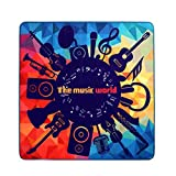 Wolala Home Abstract Design Rock Guitar Music Party Geometric Pattern Square Bedroom Rugs 5Ft x 5Ft