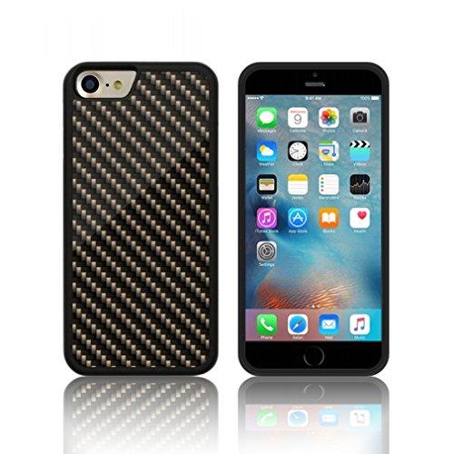 Coque ' Fibre de carbone ' Étui Housse Apple iPHONE 7 en silicone TPU