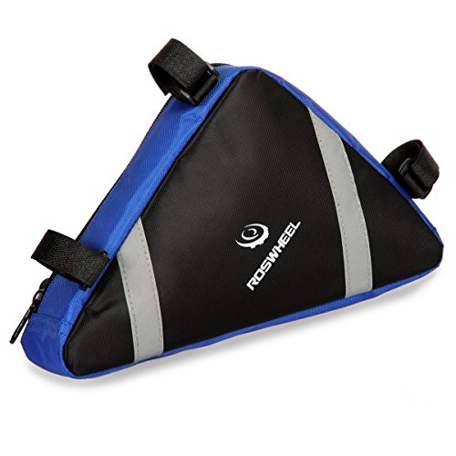 Triangle Cycling Bike Bicycle Front Tube Frame Pouch Bag(Blue) - 7