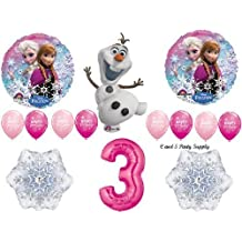 Frozen Pink 3rd Disney Movie Birthday Party Balloons Decorations Supplies