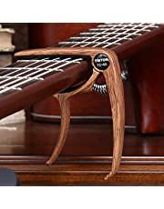 Guitar Capo for Acoustic and Electric Guitars Quick Change Grain Clamp Dark Wood