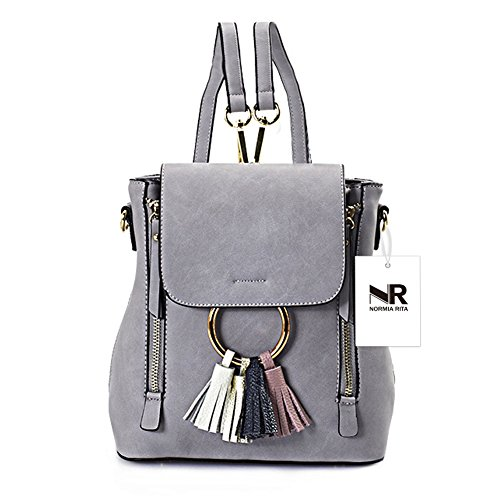 Ladies Cute Women Bags Backpack Shoulder Crossbody Grey for Chain Normia Bag Girls Rita Purse Small Tassel Satchel q8TSzgO