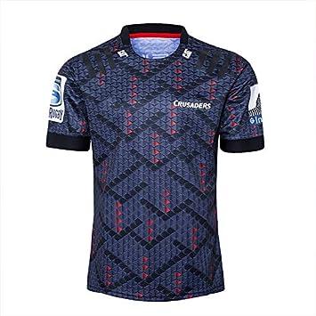 DDZY Jersey de Rugby, 2020 Nueva Zelanda Highlander, hogar/lejos, Deportes de Verano Transpirable Camisa Casual Camiseta de fútbol Camisa de Polo,Negro,XL: Amazon.es: Hogar
