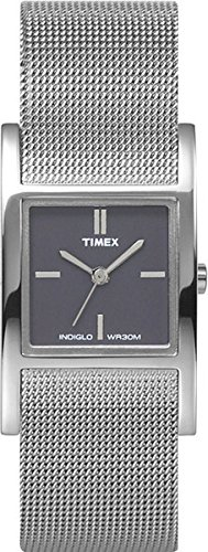 Timex Black Dial Stainless Steel Mesh Ladies Watch T2J911