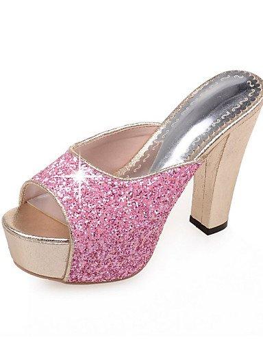 Tacón Negro Purpurina Noche Rosa Oro Plata Boda Tacones Fiesta Zapatos Black Sandalias Casual de mujer LFNLYX Vestido Robusto y qtFHqw