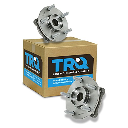 TRQ Front Wheel Hub & Bearing Pair Assembly Set for 3000GT Lancer Evo w/AWD