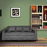 Bharat Lifestyle Three Seater Sofa(Grey)
