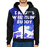 Men's Zip-Up Hooded Sweatshirt Daddy's Wrestling Buddy Pullover Hoodies Jackets