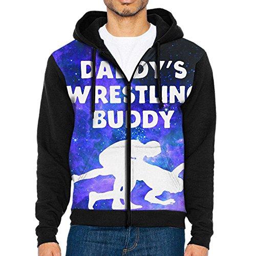 Men's Zip-Up Hooded Sweatshirt Daddy's Wrestling Buddy Pullover Hoodies Jackets by Hksay