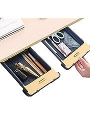 $22 » Desk Pencil Drawer Organizer Under Desk Storage,2 Pieces Self Adhesive Hidden Slide Out Under Desk Drawers Tray Space Saving for Office School Home Desk