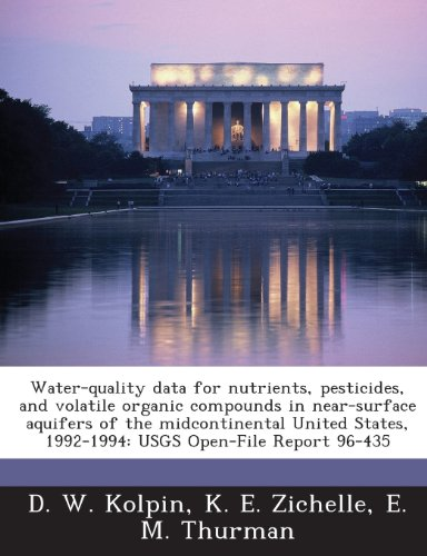 Water-Quality Data for Nutrients, Pesticides, and Volatile Organic Compounds in Near-Surface Aquifers of the Midcontinental United States, (Kolpin Water)
