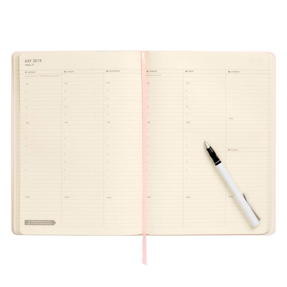 Amazon.com : kikki.K 2019 A4 Bonded Leather Weekly Diary ...