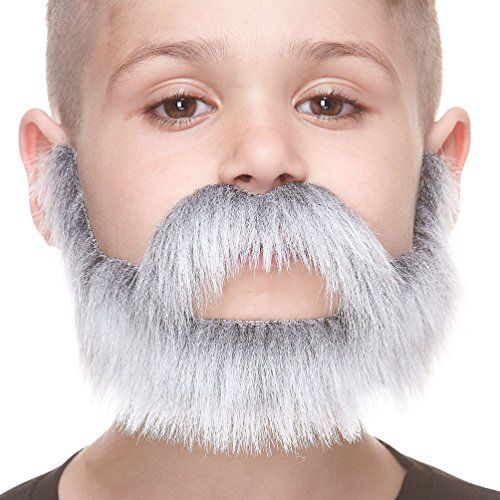 Mustaches Small Nobleman Gray with White Fake Beard and, Self Adhesive