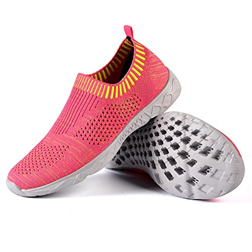 QANSI Womens Sneakers Mush Ultra Lightweight Athletic Tennis Running Breathable Water Shoes Clogs Sandals Peach1 sxDE2Dle
