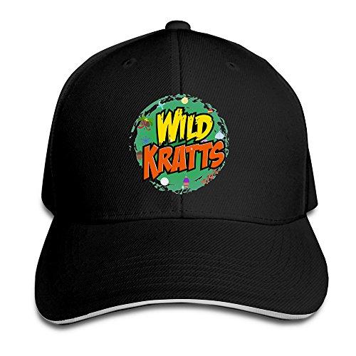 wild-kratts-logo-unisex-100-cotton-adjustable-basaball-cap-black-one-size