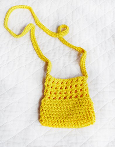 (Cross-body Crocheted Cell Phone Holder, Small Purse )