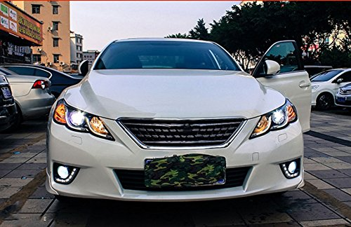 GOWE Car Styling for Toyota Reiz led headlights 2010-2013 new Mark X LED Head Lamp signal drl H7 hid Bi-Xenon Lens low beam Color Temperature:8000K;Wattage:35K 2