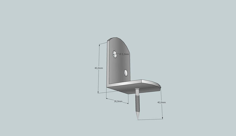 10 Stuck Flechtzaunbeschlage Montagewinkel Edelstahl Zaunwinkel