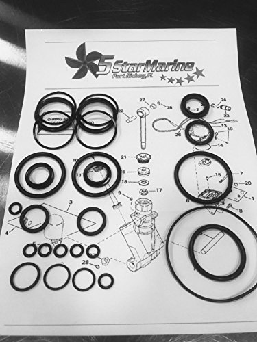 Rebuild Kit!! Johnson Evinrude OMC Trim & Tilt O-Ring & Seal Kit 434519 - Seal Evinrude Johnson
