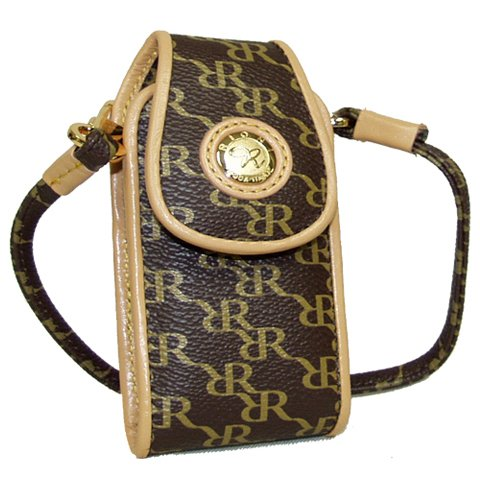 - Aristo Brown Small Phone Carrier by Rioni Designer Handbags & Luggage