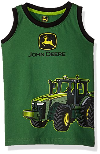 John Deere Boys' Toddler Muscle T-Shirt, Green/Black, 4T