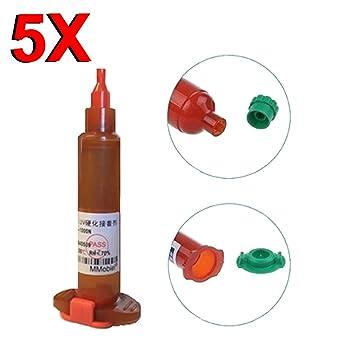MMOBIEL Paquete de 5 x Pegamento LOCA UV de 5 ml Pegamento Líquido Óptico Transparente (