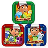 1DPA2445 Handy Manny 7 inch Square 8 Count Dessert Plates Hallmark Party Goods