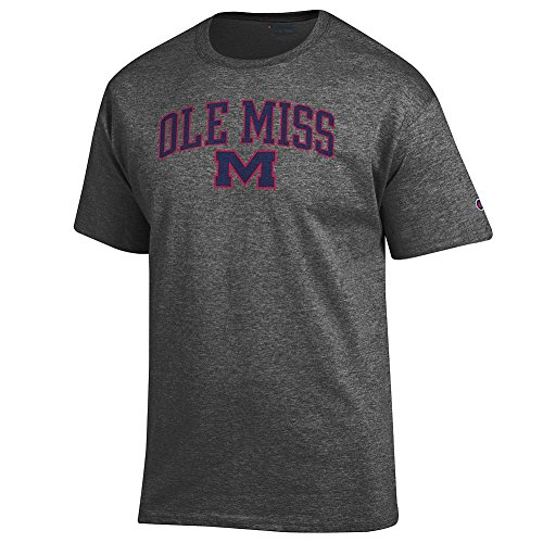 Elite Fan Shop Mississippi Ole Miss Tshirt Varsity Charcoal - XL Ole Miss Sporting Goods