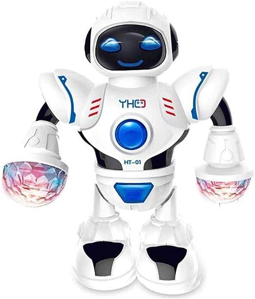ZHANG El Robot eléctrico de Baile, Juguete, iluminación LED ...