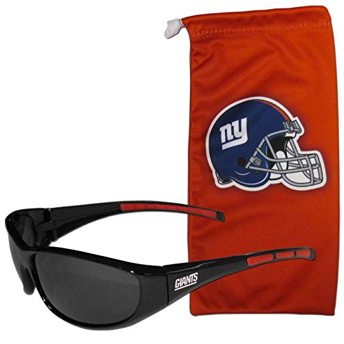 NFL New York Giants Adult Sunglass and Bag Set, Red