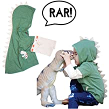 T-Rex Dino Toddler Hoodie With Removable Sleeves