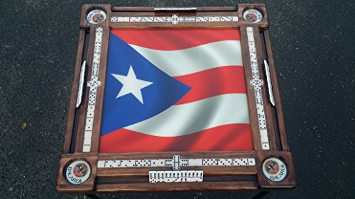 Puerto Rican Flag Domino Table by Domino Tables by Art