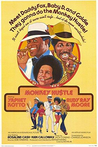 The Monkey Hustle Poster Movie 11x17 Yaphet Kotto Rudy Ray Moore Rosalind - Ray Care Cash