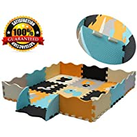 Baby Play Mat with Fence Interlocking Foam Floor Tiles