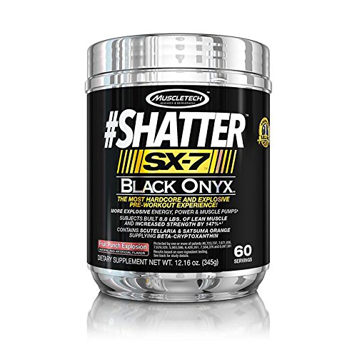 Muscletech Shatter SX-7 Black Onyx Pre-Workout Fruit Punch Explosion 12 15 oz 345 g by MuscleTech