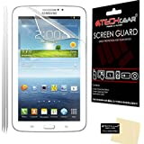 [3 Pack] TECHGEAR® Samsung Galaxy Tab 3 7.0 Inch SM-T210 SM-T211 SM-T215 (P3200 P3210) CLEAR LCD Screen Protectors With Screen Cleaning Cloth & Application Card