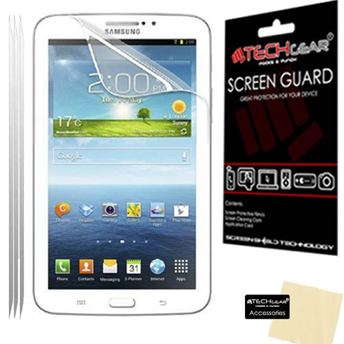 Samsung Galaxy Tab 3 7-inch ULTRA CLEAR SCREEN PROTECTOR+CLEANING CLOTH