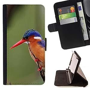 - tropical songbird beak feathers green - - Prima caja de la PU billetera de cuero con ranuras para tarjetas, efectivo desmontable correa para l Funny HouseFOR LG OPTIMUS L90