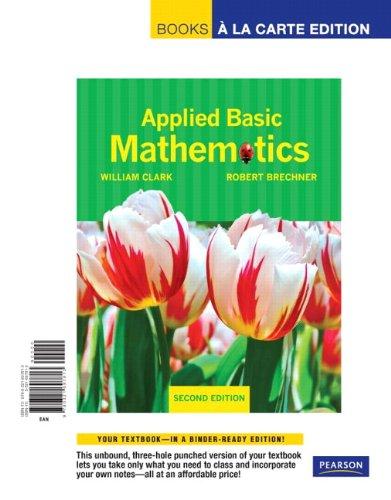 Applied Basic Mathematics, Books a la Carte Edition (2nd Edition)