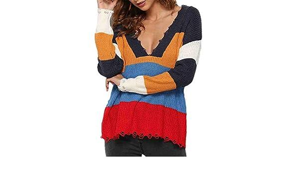 Hmarkt Womens Knit Sweater Long Sleeve Tassels Crewneck Pullover Sweatshirt Top