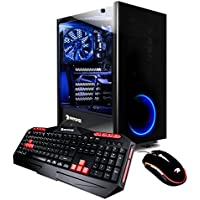 iBUYPOWER Elite Gaming Desktop AMD Ryzen 7 1800X 3.6GHz, AMD Radeon RX 580 4GB, 16GB DDR4 RAM, 1TB HDD, 120GB SSD, Win 10, View21 035A