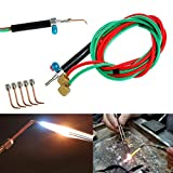 Torch Jewelers Soldering Welding with 5 Tips, Hoses Mini Gas Little Torch Welding Soldering Kit