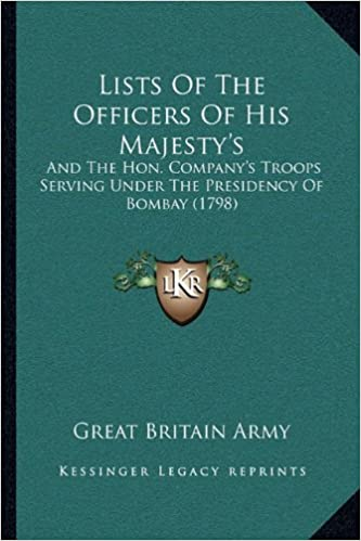 Lists Of The Officers Of His Majesty's: And The Hon. Company's Troops Serving Under The Presidency Of Bombay (1798)