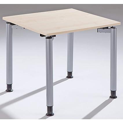 Fm büromöbel Thea escritorio con 4 patas de - Altura 680 - 820 mm ...