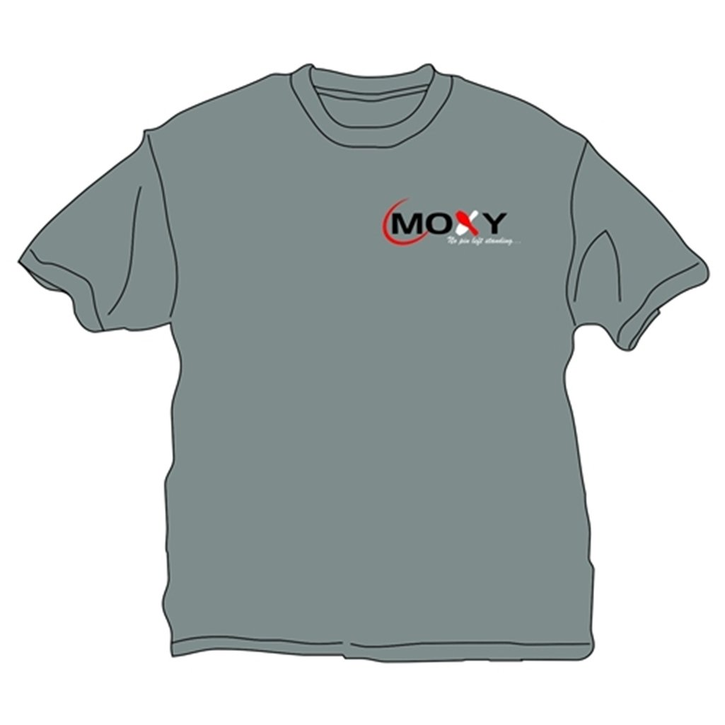 Moxy No Pin Left Standing T Shirt- Gray (XX-Large, Gray) by Moxy Bowling Products
